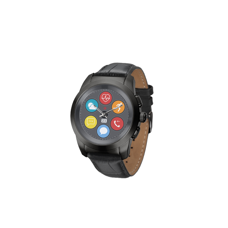 ZeTime Premium - The world's first hybrid smartwatch combining mechanical hands with a full round color touchscreen - MyKronoz